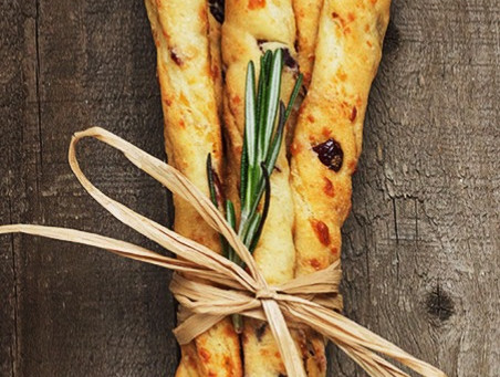 Cranberry Walnut Bread Sticks