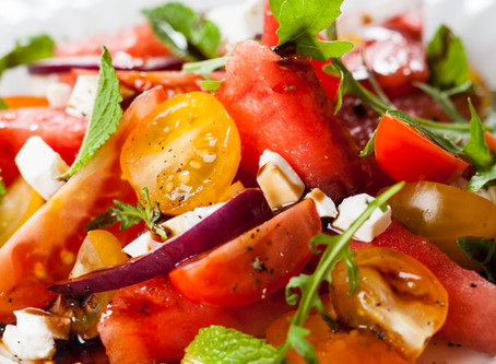 Tomato Watermelon Salad - New variation