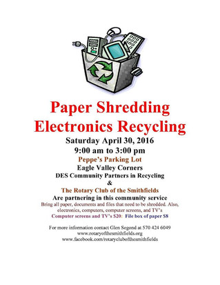 Shredding and Recycling Fundraiser