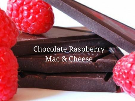 Chocolate Raspberry Mac & Cheese
