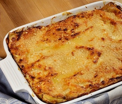 Pumpkin Spice and Mushroom Lasagna