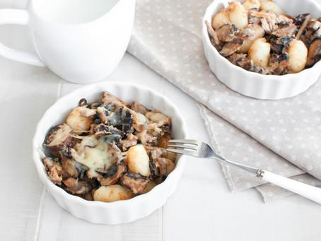 Tuna Casserole with Mushrooms and Gnocchi