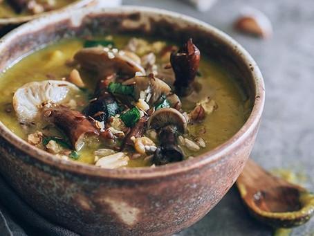 Tri Mushroom Soup - Variation