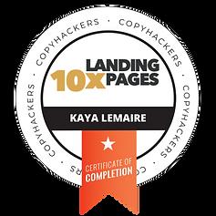 kaya 10x Landing Pages Badge.png