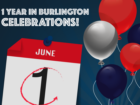 One Year in Burlington Party!