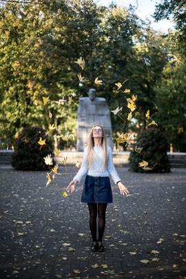 Jesienna sesja plenerowa w parku im Solidarności w Hrubieszowie