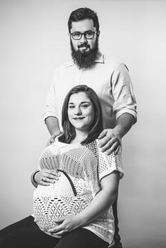 Studyjna sesja ciążowa Iwona i Marcin