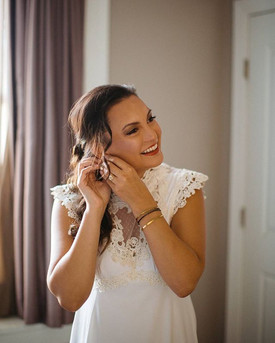 this gorgeous bride in her mother's wedd