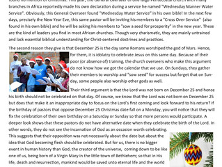 CHRISTMAS IN AFRICA UNDERSCORES THE IMPORTANCE OF LEMA!