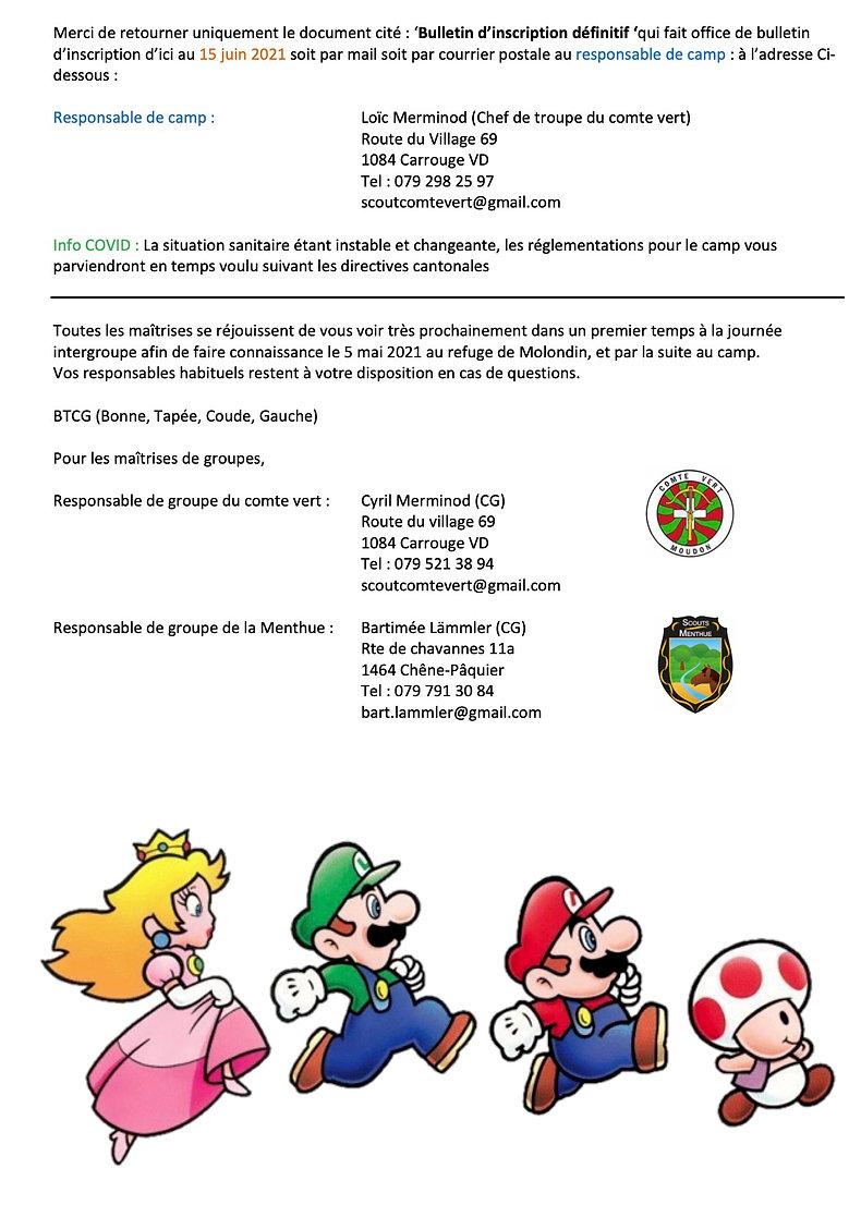 Circulaire Camp éclais Mario world 3:3.j