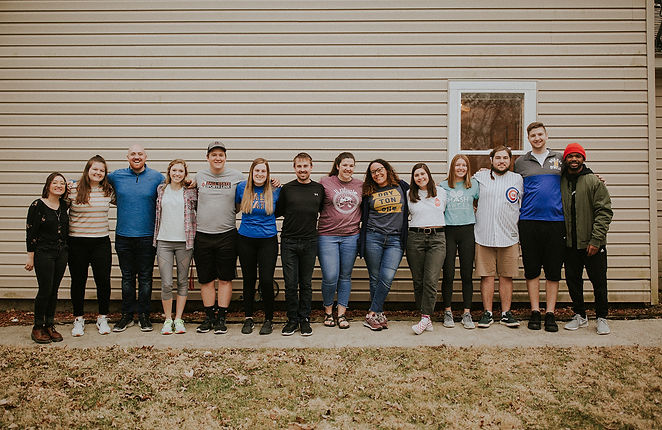 house church photo of students and staff