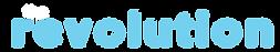 the revoltuion blue text logo