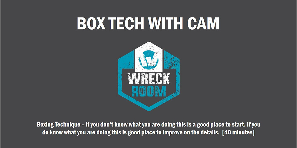 Box Tech with Cam Thurs 14 May 2020