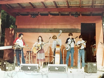 Jerry Williamson and Redwing: Jerry Williamson, Irene Kelley, Kevin Williamson, Eddie Price and Rudy Rohr (circa 1982?) Ralph Stanley's Clinch Mountain Festival