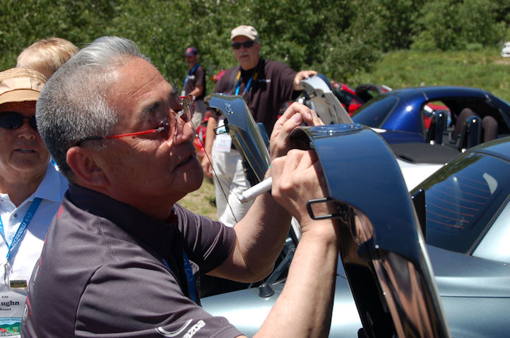 Tom Matano, Signing Miata, photo shoot, lr