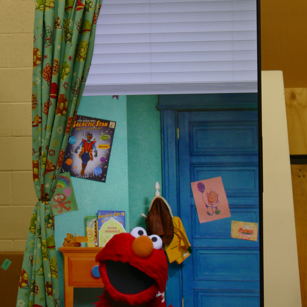Sesame Street at SeaWorld, Orldando: Elmo's window demo