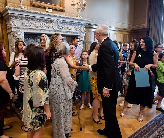 Governor Asa Hutchinson signing Lyme Disease Procolomaton