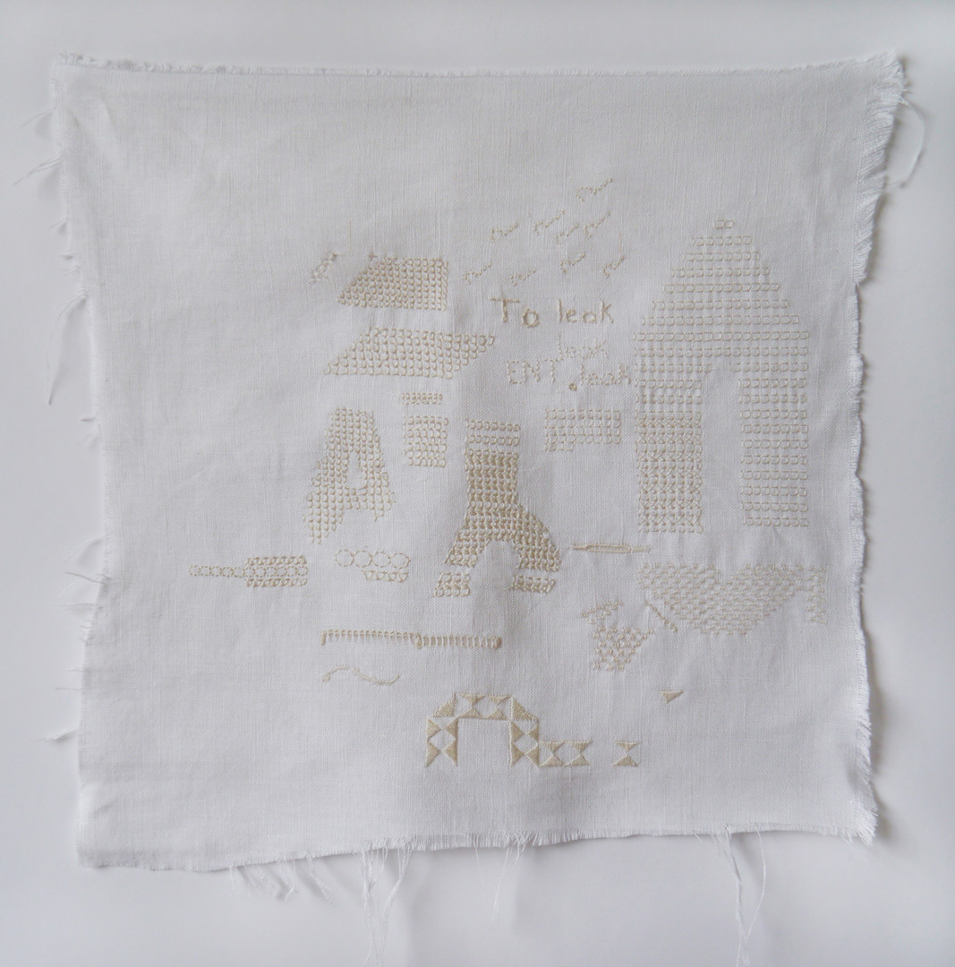 Whitework embroidery sampler