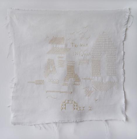 Whitework embroidery sampler
