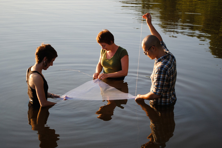 Sewing the Surface of the Water