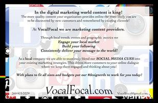 VocalFocal Social Media Flyer