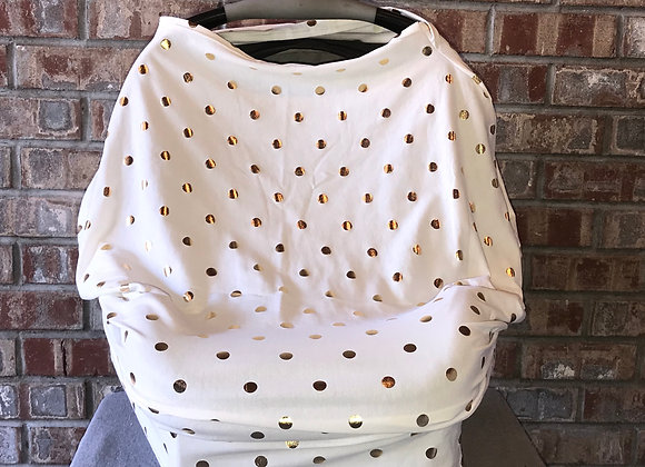 Car Seat Cover - Gold Dots