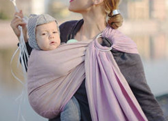 Little Frog Ring Sling - Lilac Heartbeat