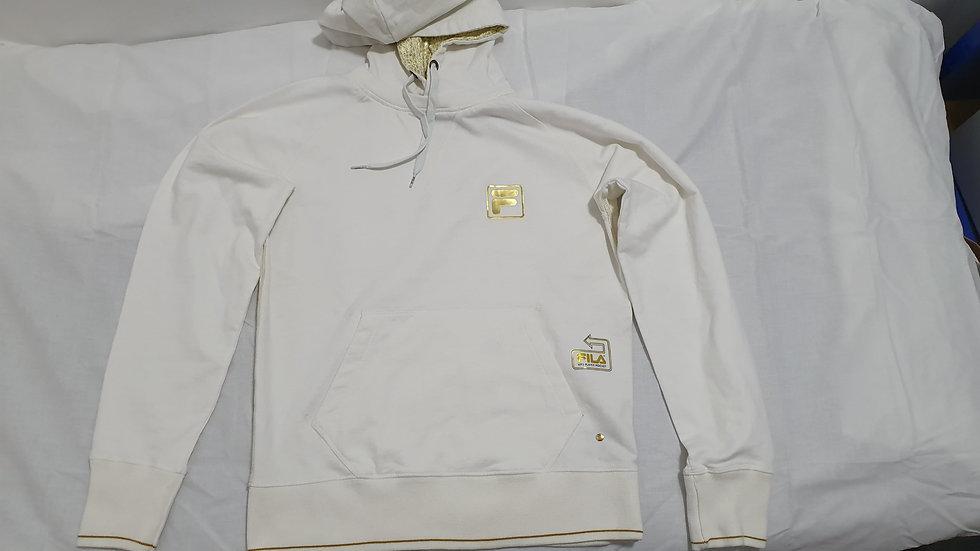 Fila Gold Logo White Hoodie