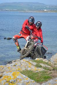 Nigel and Gracie-Mae in the Isle of Man