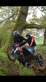 Nigel and Graicie-Mae at British Sidecar Championship 2019