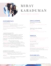 Miray Karaduman CV- post graduation- WIX