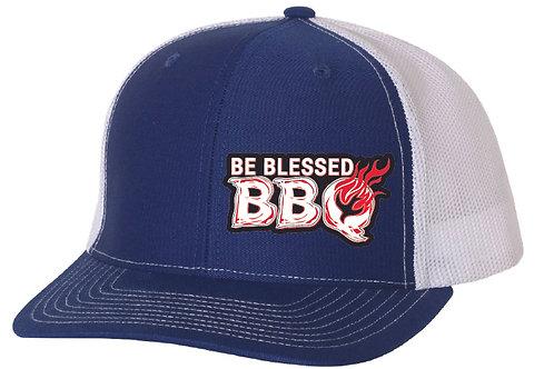 BE BLESSED CAP - Royal / White