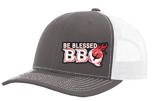 BE BLESSED CAP - Charcoal / White