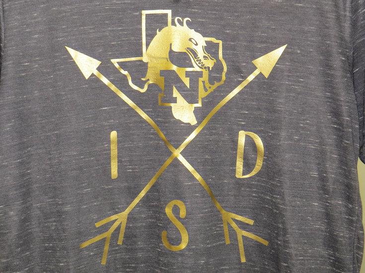 NISD Arrows - 1 Color - Metallic Gold