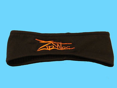 Zip Nac Fleece Headbands W/ Orange logo
