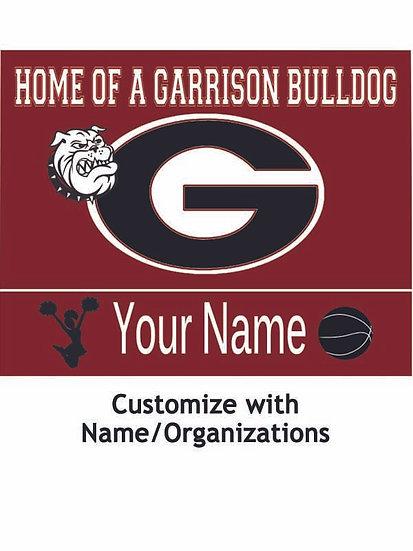 Garrison Bulldog Yard Sign