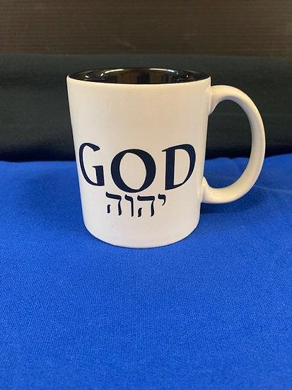 God in Hebrew mug