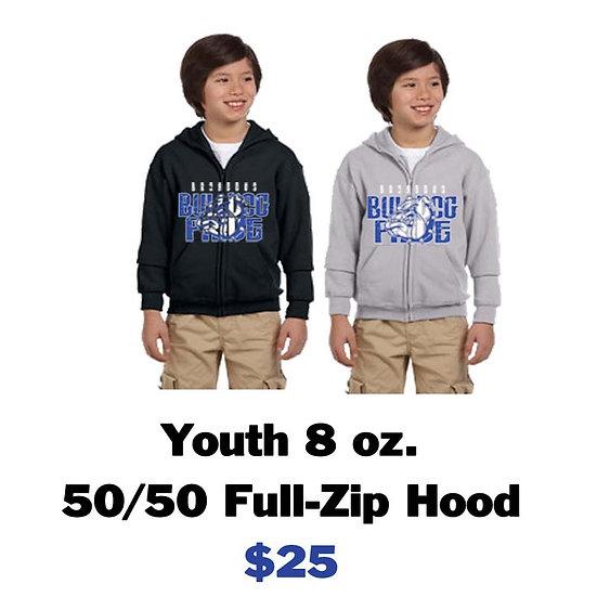 Broaddus Youth Zippered Hoodie