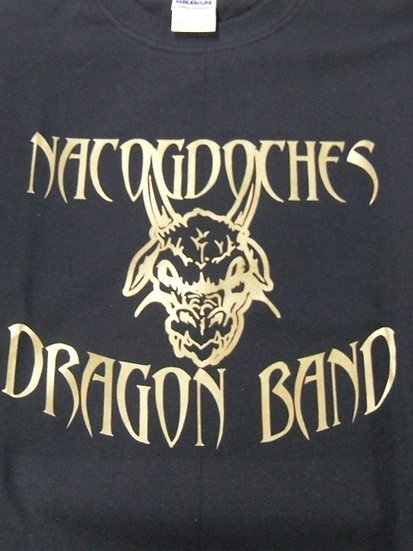 T-shirt Black with Gold Dragon