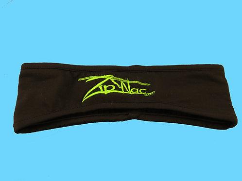 Zip Nac Fleece Headbands W/ Safety Green logo