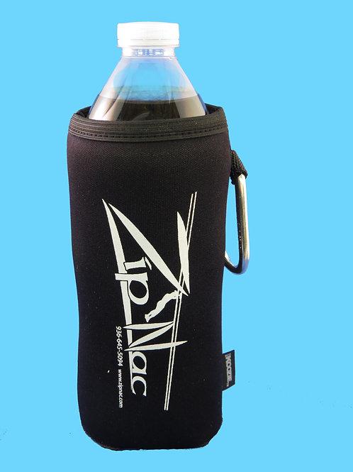 Zip Nac Water Bottle Koozie w/ Carabiner in Black
