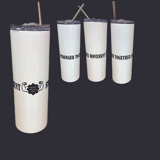 Mighty Muscle Mob Stronger Together Movement Tumbler