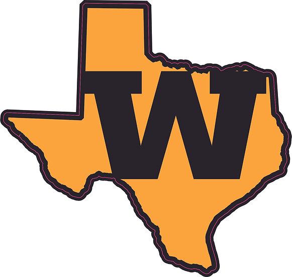 "Texas ""W"" Decal"