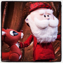 #tbt Rudolph and me in last year's Xmas show #rudolphtherednosereindeer #centerforpuppetryarts #pupp