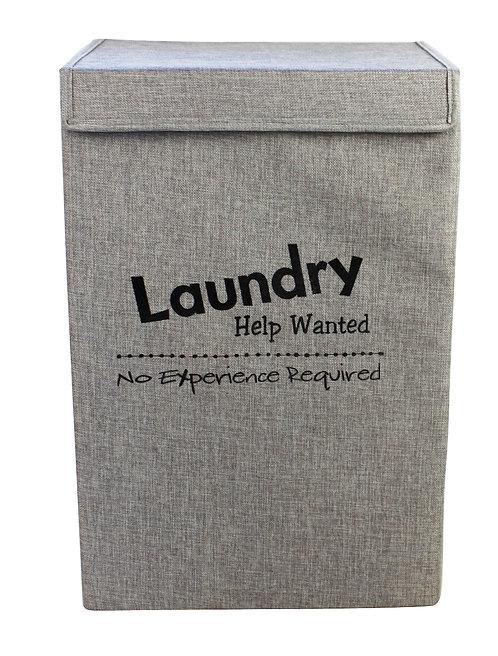 Help Wanted Grey Large Laundry Basket