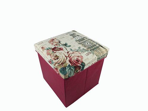 Big Ben Flower Tapestry Folding Storage Box
