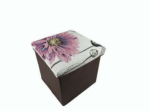 Pink Daisy Folding Storage Box
