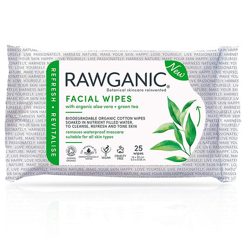 RAWGANIC Refreshing Facial Wipes