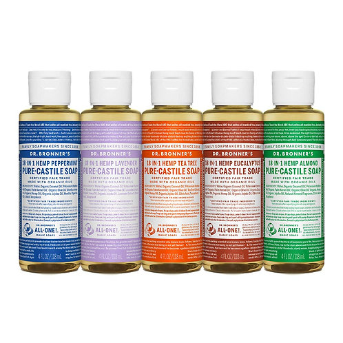Dr. Bronner's Liquid Soap (4oz Variety Pack)