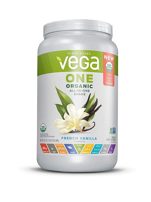 Vega One Organic All-in-One Shake, French Vanilla